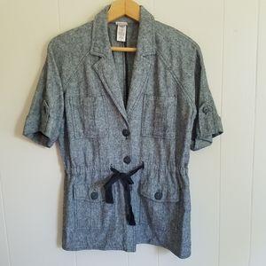 Covington linen blend blazer jacket short sleeves